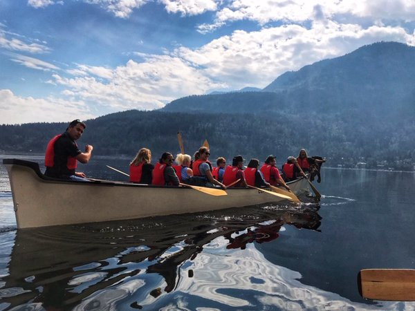 Canoe On Shuswap Lake